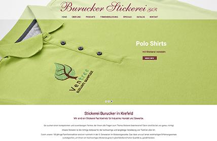 Re-design der Webseite für Stickerei Burucker