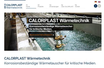 Relaunch der Webseite für Calorplast