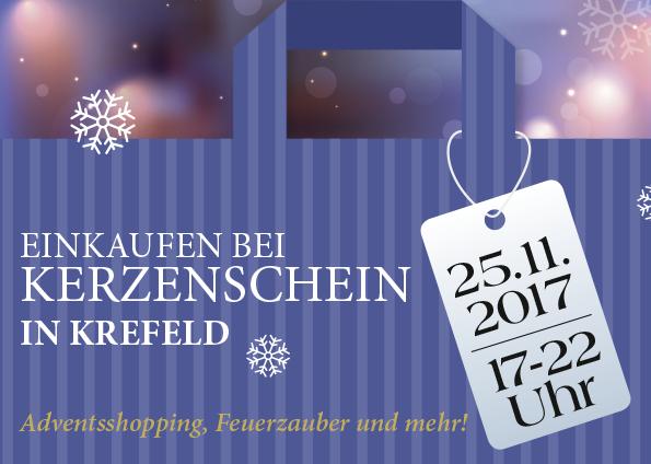 """""""Einkaufen bei Kerzenschein"""" am 25.11.2017 in Krefeld."""