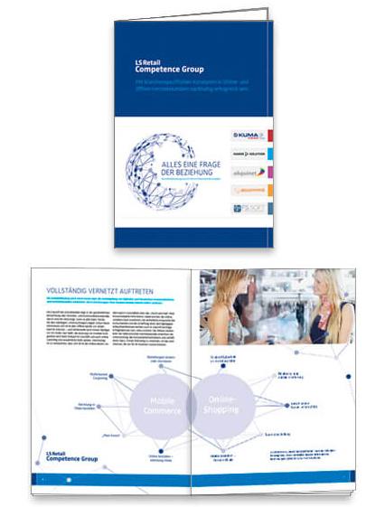 LS Retail Competence Broschüre gestaltet von Nimm3 Werbeagentur