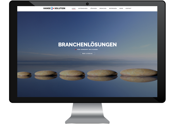 Webdesign für Hanse Solution