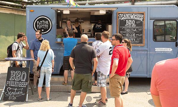 Food-truck beim Event Märkte für Geniesser