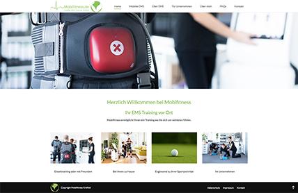 Webdesign für Mobifitness