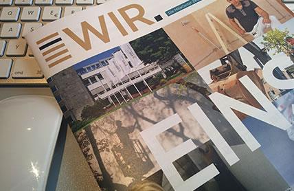 Entwicklung, Konzeption und Produktion einer Mitarbeiterzeitschrift