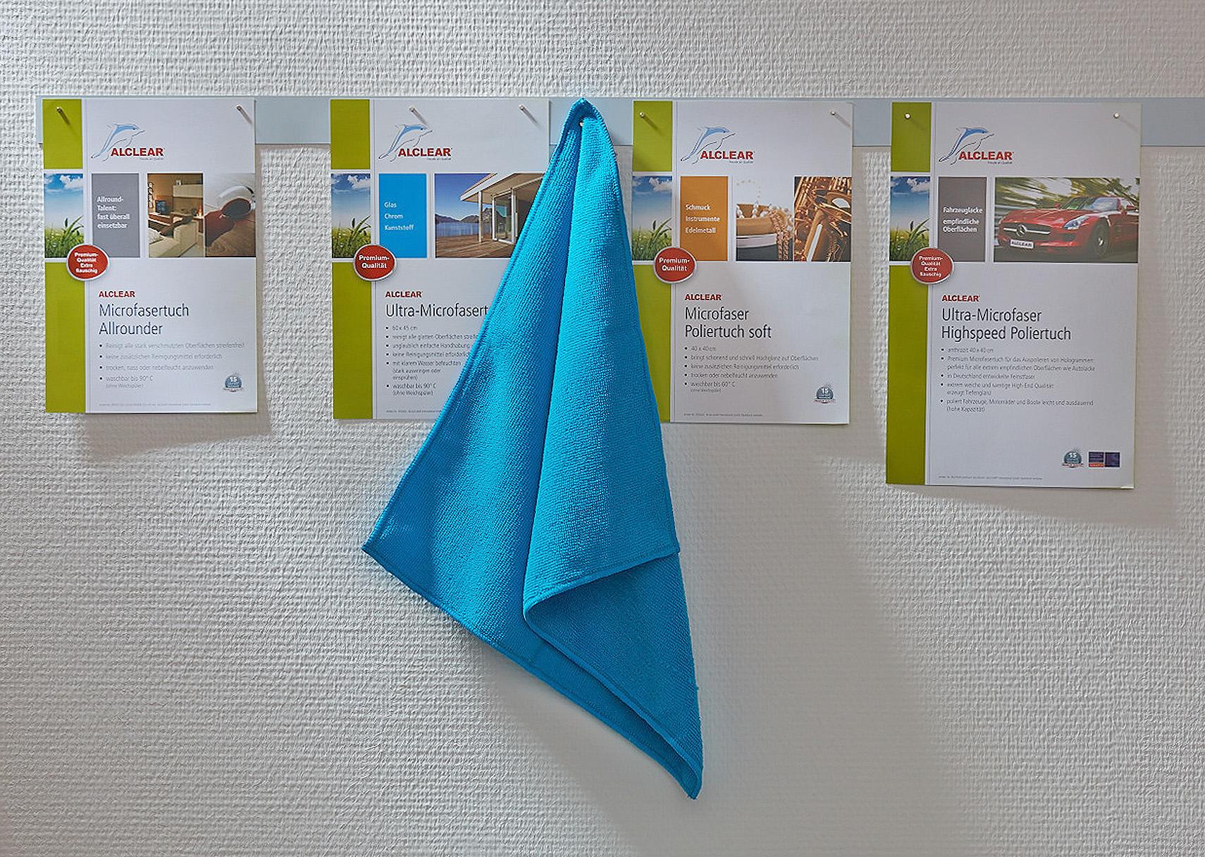 Alclear Flyer und Broschüren Kundenreferenz