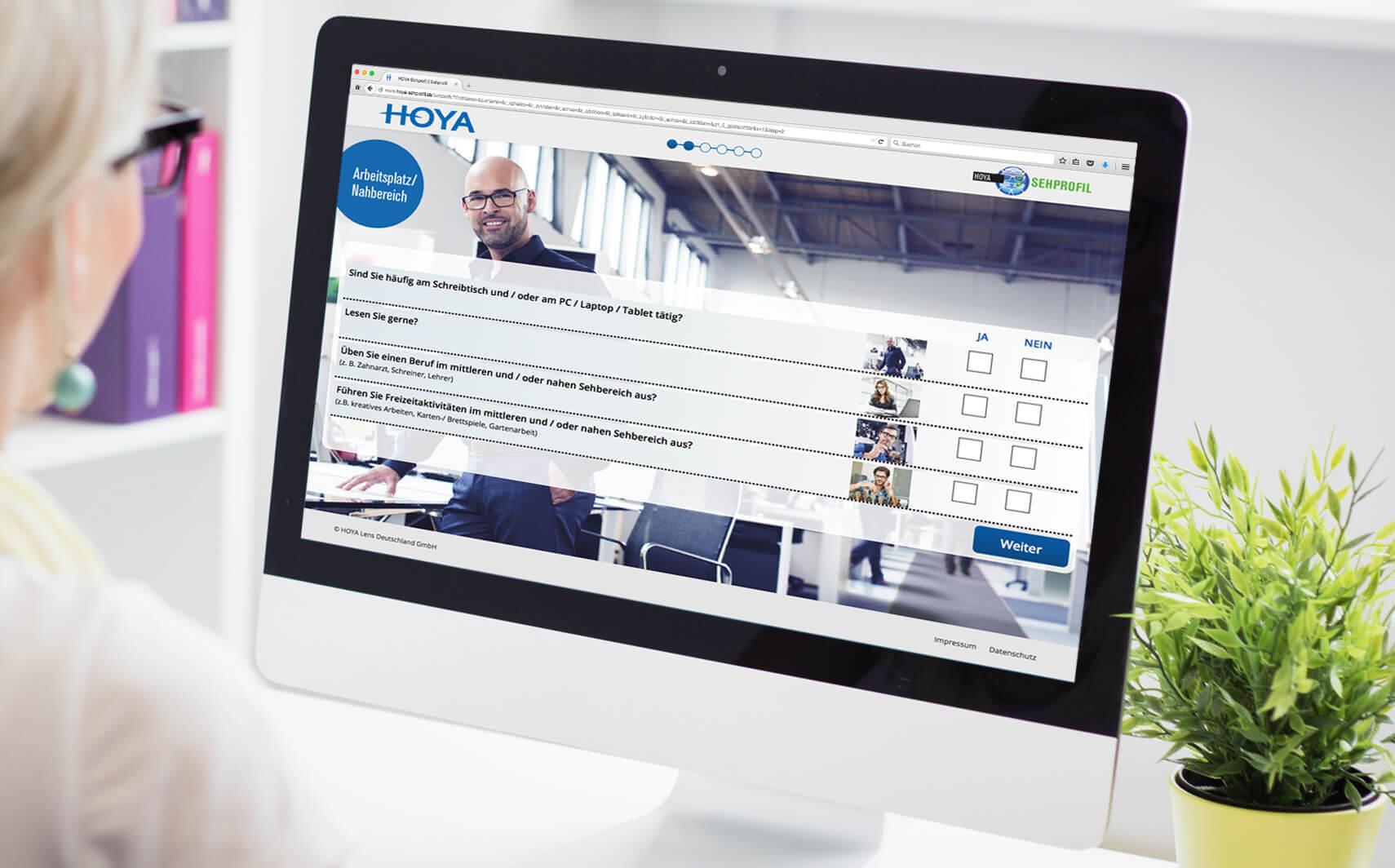 Referenz Website App Hoya Sehprofil