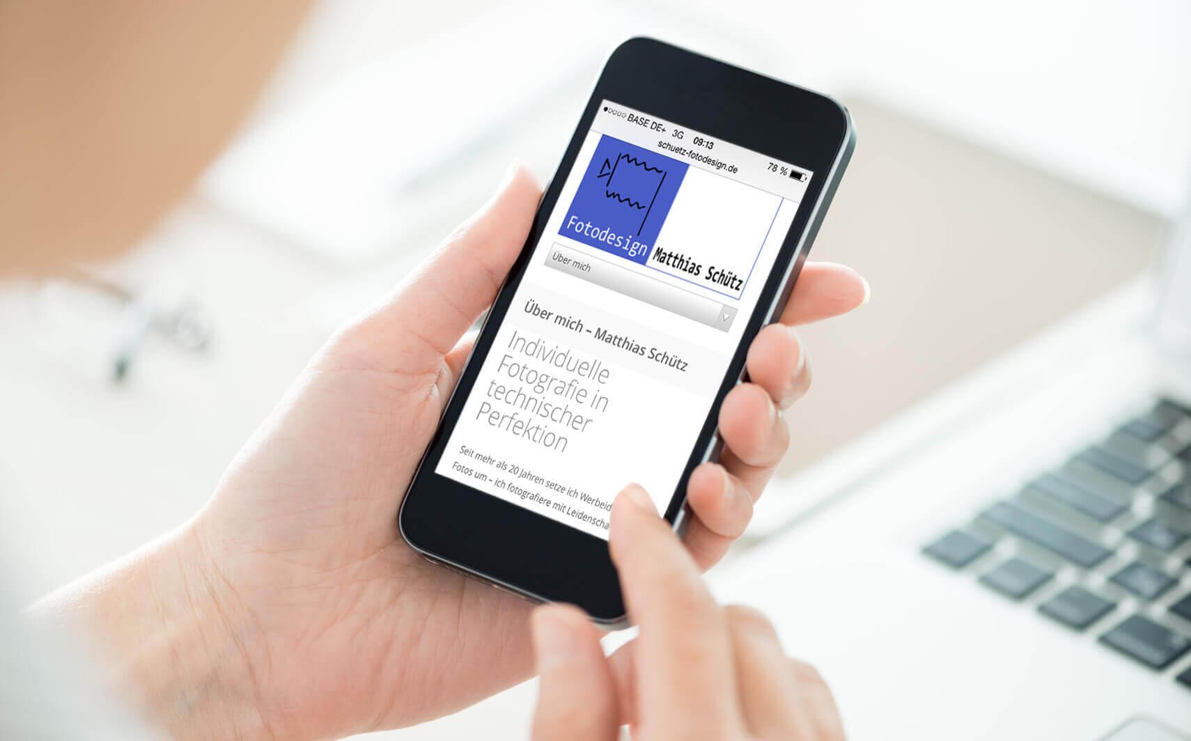 Referenz Smartphone Ansicht Schütz Fotodesign