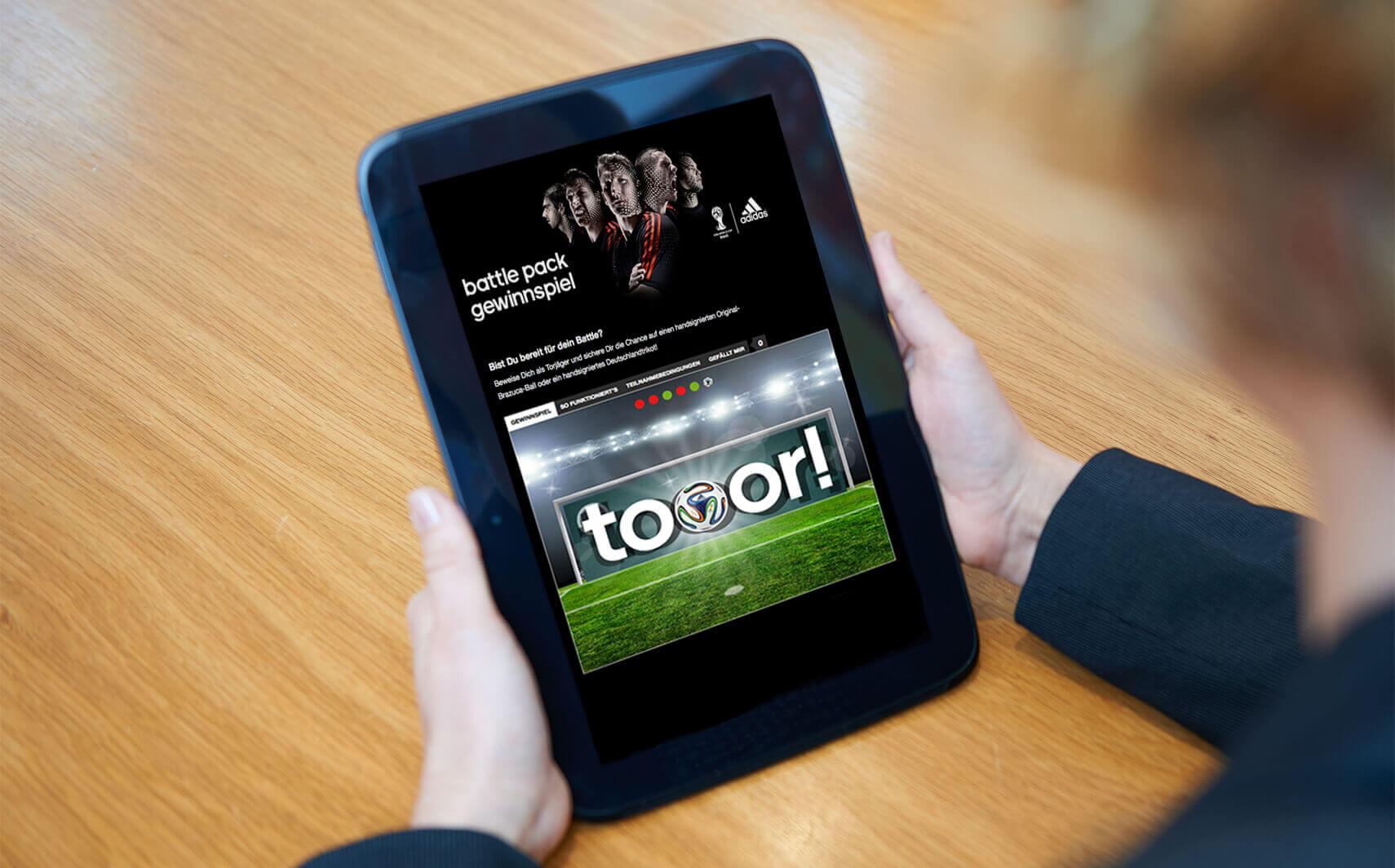 Website Referenz adidas Gewinnspiel