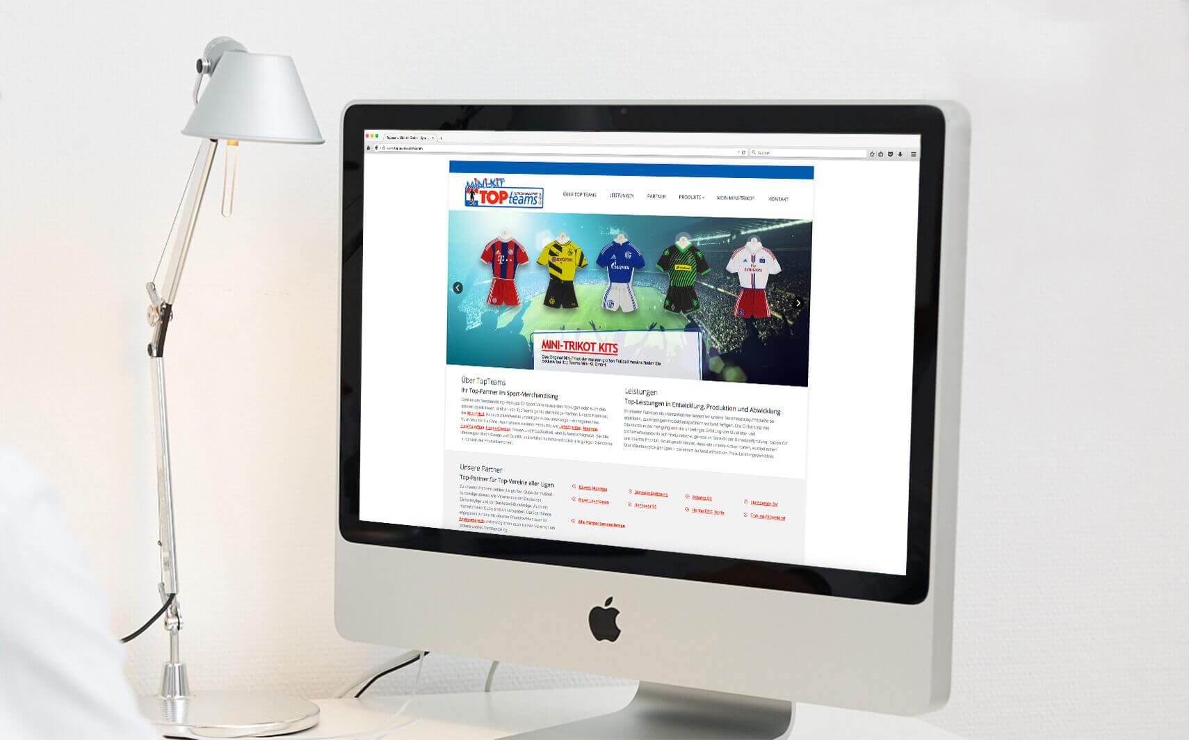 Online Referenz TopTeams Merchandising