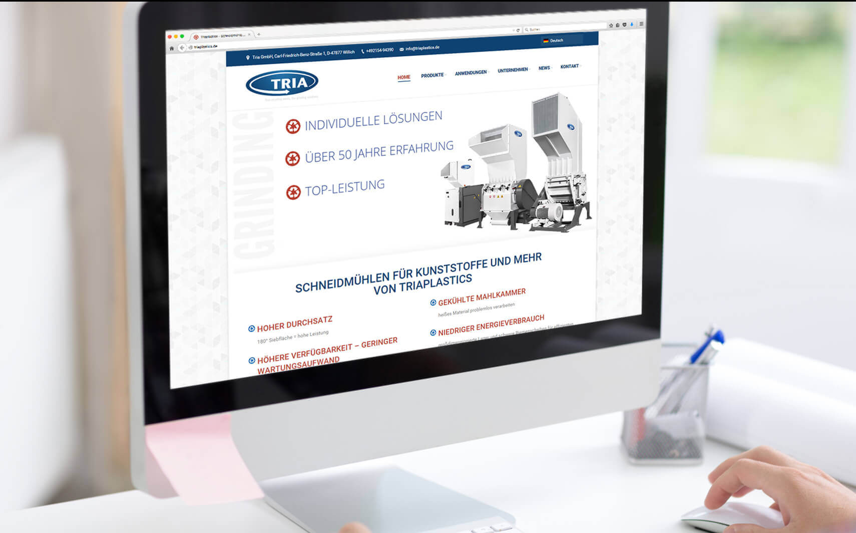 Online Referenz TRIA Website