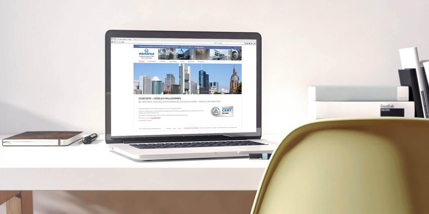 Webseitengestaltung für die Firma Wahlefeld