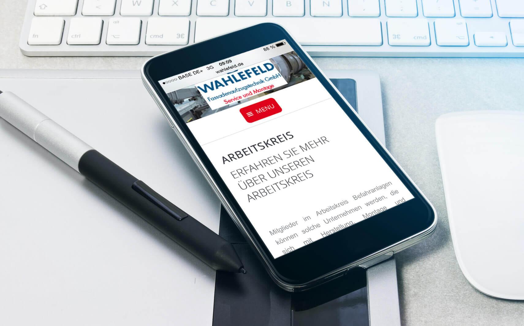 Mobil Website Referenz Wahlefeld