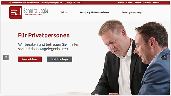 Re-Launch der Webseite für Schmitz Jagla
