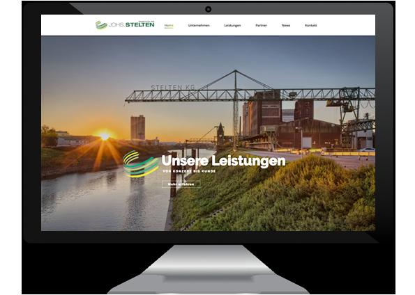 Webdesign und SEO für Johs. Stelten