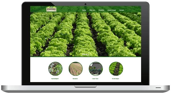 Webdesign responsiv für Stoffers Gemüsebau von Nimm3 Werbeagenur