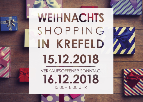 Weihnachts-Shopping in Krefeld
