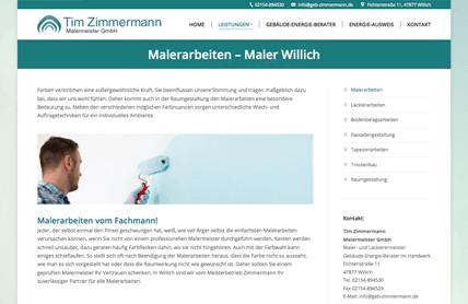 Nimm3 gestaltet neue Webseite für Malermeister Zimmermann